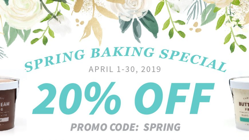 Spring Baking Special! 20% off Buttercream