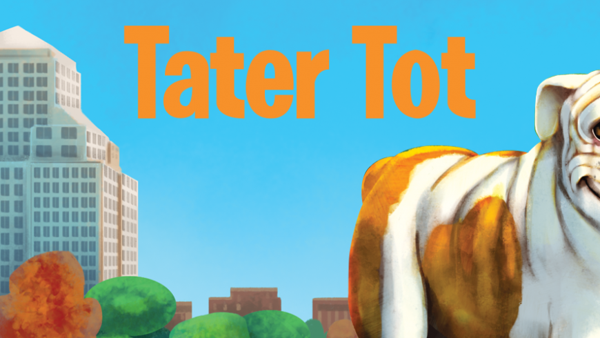 The Cup featured Tater Tot's new book!